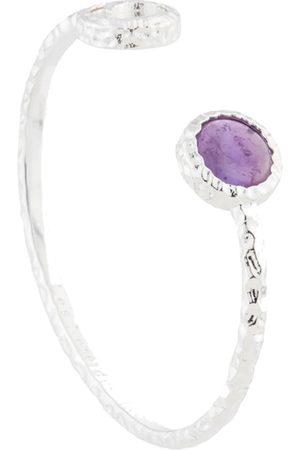 Les N r ides Moon & Violet Amethyst Bangle Bracelet
