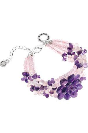 Women Bracelets - Quartz and amethyst bracelet