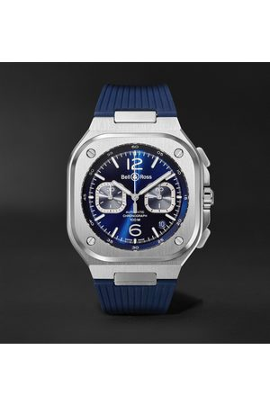 Bell & Ross BR 05 Automatic Chronograph 40mm Stainless Steel and Rubber Watch, Ref.No. BR05C-BUBU-ST/SRB