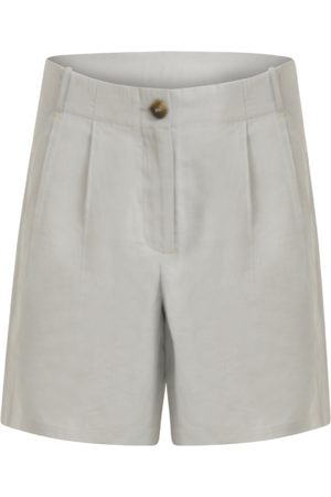 Coster Copenhagen Shorts with Horn Button - Frost Blue