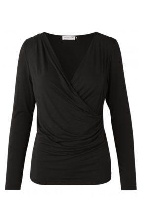 Rosemunde Biarritz Crossover Top in Black