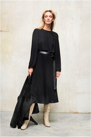 Luisa Cerano Midi Plisse Dress