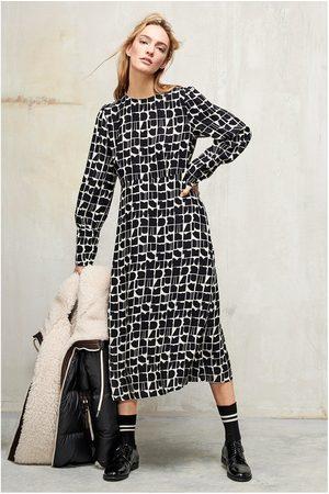 Luisa Cerano Abstract Print Midaxi Dress