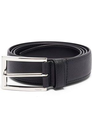 Prada Men Belts - Saffiano-leather Belt - Mens