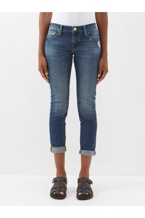 Frame Le Garcon Cropped Jeans - Womens - Denim