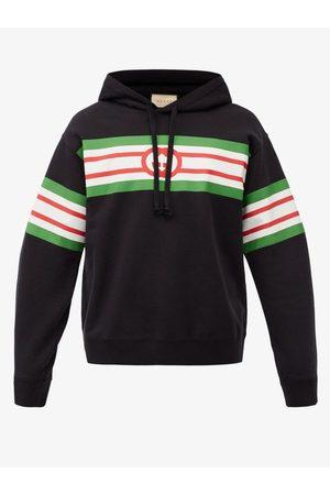 Gucci GG Logo-print Cotton-jersey Hooded Sweatshirt - Mens