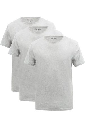 Paul Smith Pack Of Three Cotton-blend Jersey Pyjama Tops - Mens