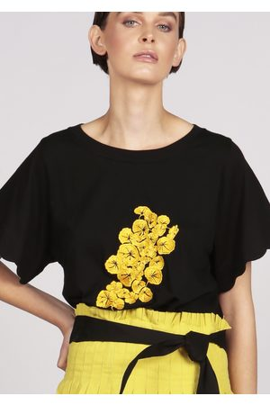 MARAINA LONDON IDEN cotton-jersey floral embroidered T-shirt