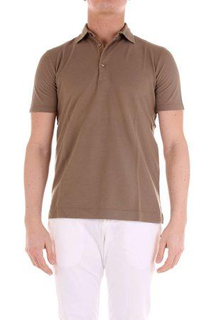 Cruciani Men Polo Shirts - MEN'S CUJKPC30FANGO COTTON POLO SHIRT