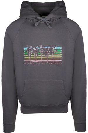 Saint Laurent Men Sweatshirts - SAINT LAURENT MEN'S 597199YBQQ21478 COTTON SWEATSHIRT