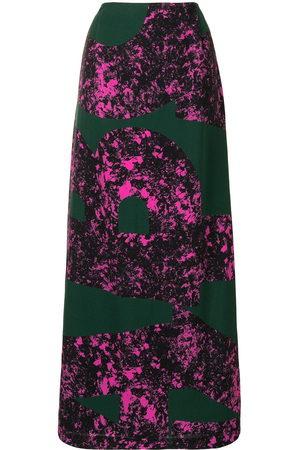Colville Abstract print long skirt