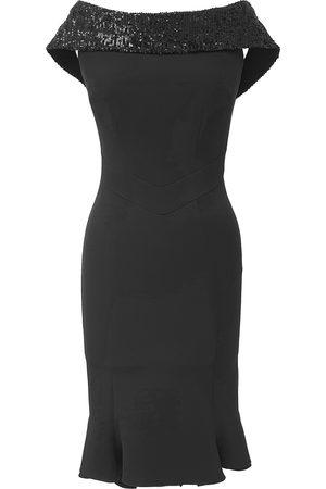 Mellaris Sweet Pea Dress DRC347 Crepe Black Rain Sequins