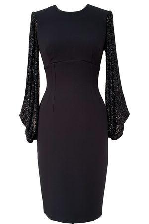 Mellaris Women Rain Jackets - Galaxy Dress DRC334 Crepe Black Rain Sequins