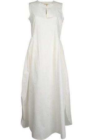 MOMONÍ MOMON WOMEN'S CARDO7WHITE COTTON DRESS