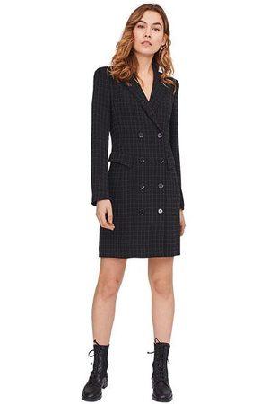 Riani Women Coats - Check Coat Dress Black & White