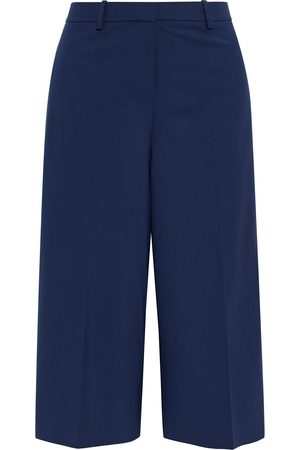 THEORY Women Formal Trousers - Woman Wool-blend Culottes Navy Size 10
