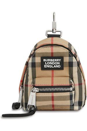 Burberry Vintage Check backpack key charm