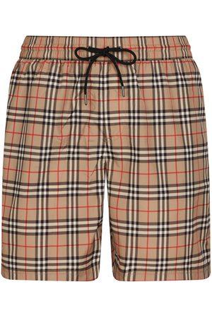 Burberry Small Scale Check Drawcord Swim Shorts
