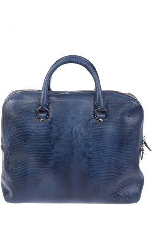 Orciani Men Laptop & Business Bags - MEN'S PB0014BLU LEATHER BRIEFCASE