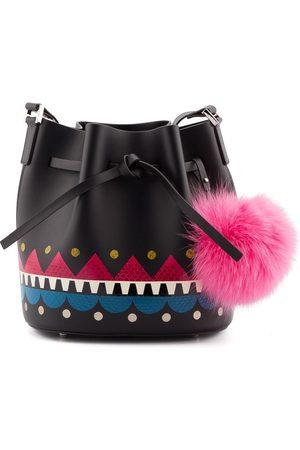Les Petits Joueurs WOMEN'S DL05V10BLACK LEATHER SHOULDER BAG
