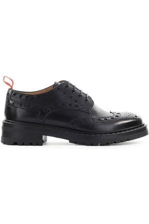 Barracuda WOMEN'S BD1011BLACK LEATHER LACE-UP SHOES