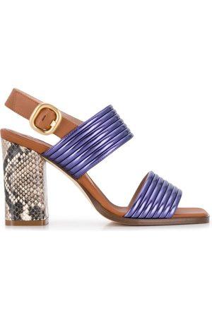 Alberto Gozzi Women Sandals - WOMEN'S DULI268PL MULTICOLOR LEATHER SANDALS