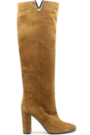 Via Roma WOMEN'S 3173BROWN SUEDE BOOTS