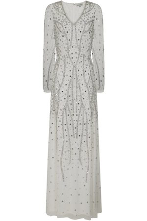 Frock and Frill Hebe Embellished Long Sleeve Maxi Dress