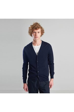 L'exception Paris Merino Wool Cardigan Navy