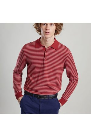 L'Exception Paris Men Polo Shirts - Striped Polo Terracotta
