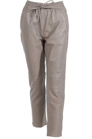 Oakwood Women Leather Trousers - Gift Grey Leather Trousers