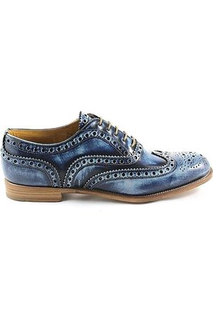 Church's WOMEN'S A73683BURWOODBLUE LEATHER LACE-UP SHOES