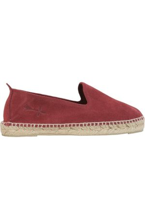 MANEBI MANEB MEN'S W00C0SUEDEWINE BURGUNDY LEATHER ESPADRILLES