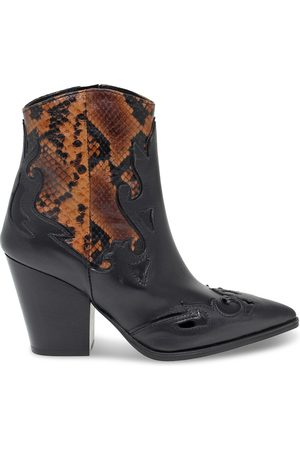 Janet&Janet Women Ankle Boots - WOMEN'S JANET44503NC LEATHER ANKLE BOOTS