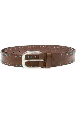 Orciani MEN'S U07637BROWN LEATHER BELT