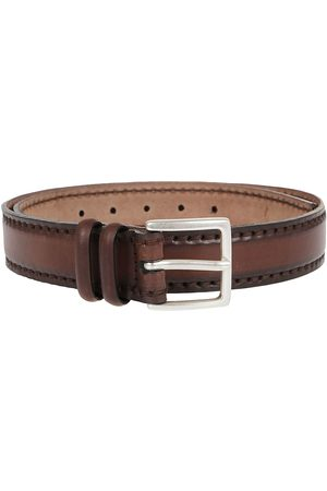 Orciani MEN'S U07847EBANO LEATHER BELT