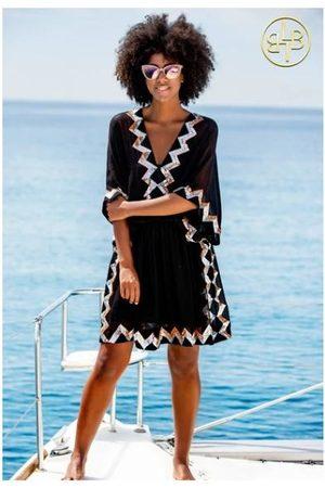 Lindsey Brown Sequined Silk Resort Dress Paradise