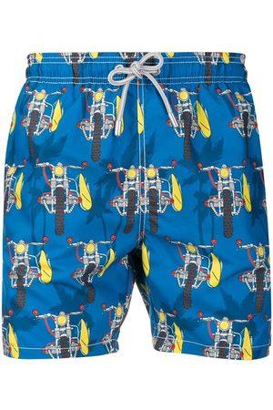 MC2 SAINT BARTH Men Swim Shorts - MEN'S GUSTAVIASUMB61 MULTICOLOR SYNTHETIC FIBERS TRUNKS