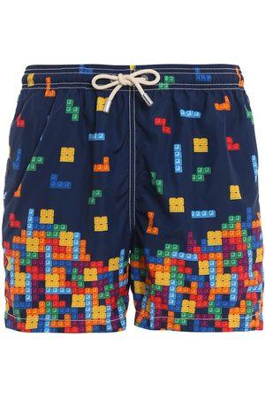 MC2 SAINT BARTH Men Swim Shorts - MEN'S LIGHTINGGASB61 POLYESTER TRUNKS