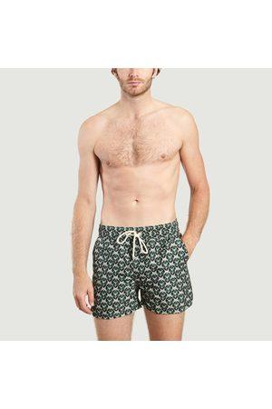ATALAYE Men Swim Shorts - Cocodrillo Swimming Trunks Dark