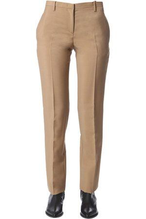 Nº21 WOMEN'S B05231672180 BEIGE WOOL PANTS