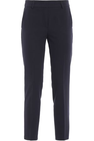 PAOLO FIORILLO WOMEN'S 7849V22234BLUE WOOL PANTS