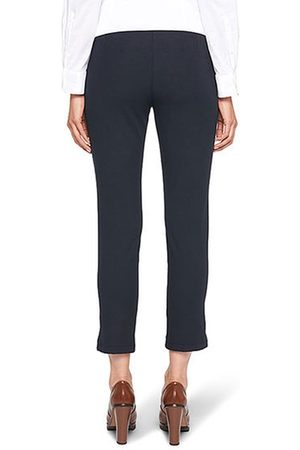 Marc Cain Ankle-Length Stretch Trousers in Midnight