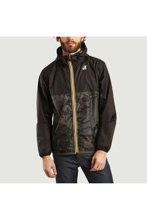 K-Way Men Sports Jackets - Le Vrai Claude 3.0 camouflage windbreaker jacket dark camouflage