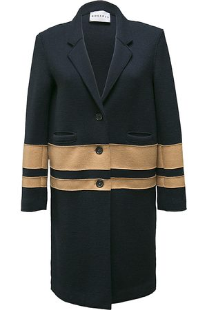 ROSSO35 Navy knitted coat