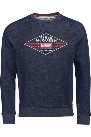 Barbour Men Sweatshirts - International SMQ Application Sweatshirt Navy