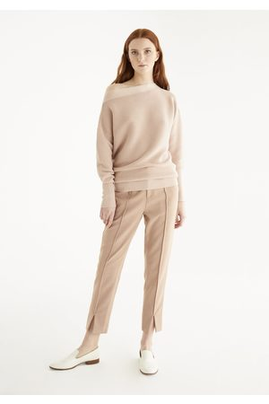 Paisie Women Jumpers - Boat Neck Ribbed Jumper
