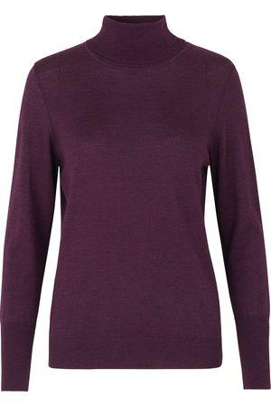Rosemunde Women Jumpers - Lille Polo Neck Sweater - Dark Melange