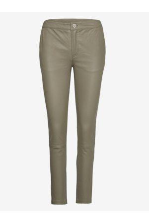 2nd Day Women Leather Trousers - LEYA LEATHER PANT KALAMATA 2NDDAY