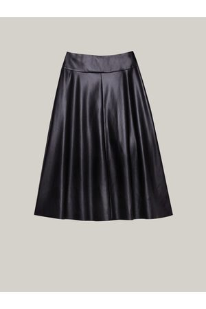 Caractere Faux Leather Flared Skirt 1233A000255N